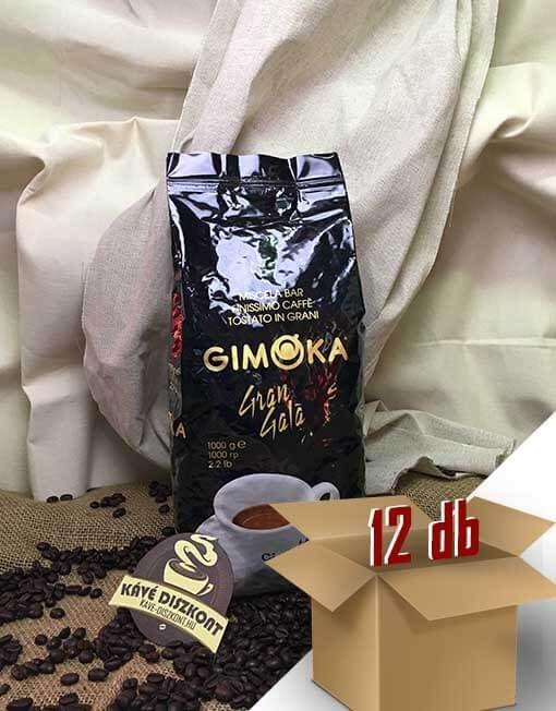 Gimoka Gran Gala szemes kávé 12 x 1 kg ingyenes szállítással