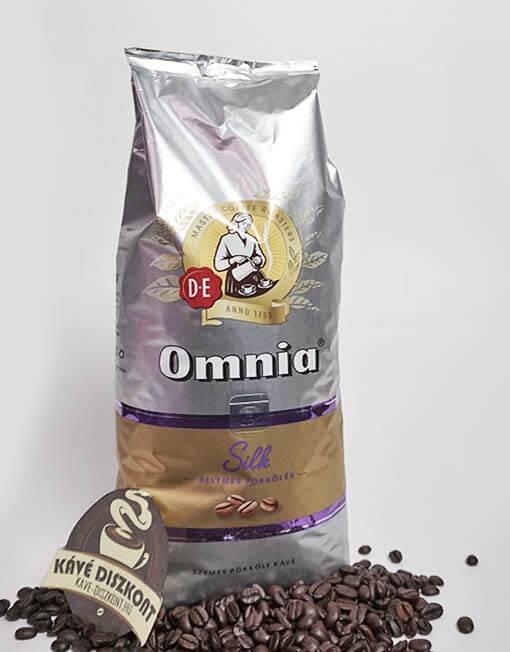 Douwe Egberts Omnia Silk szemes kávé 1000 g