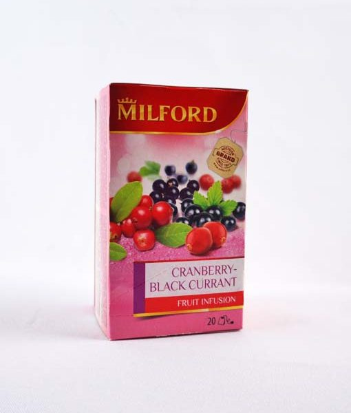 Milford Vörösáfonya - Feketeribizli ízű gyümölcstea 20 x 2,5 g
