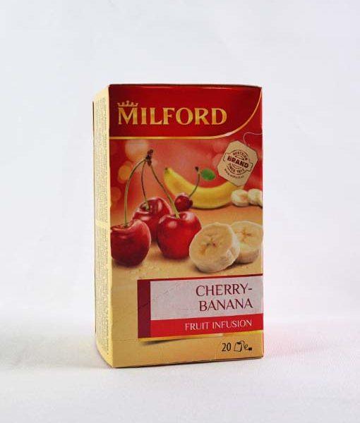 Milford Cseresznye - Banán ízű gyümölcstea 20 x 2,5 g
