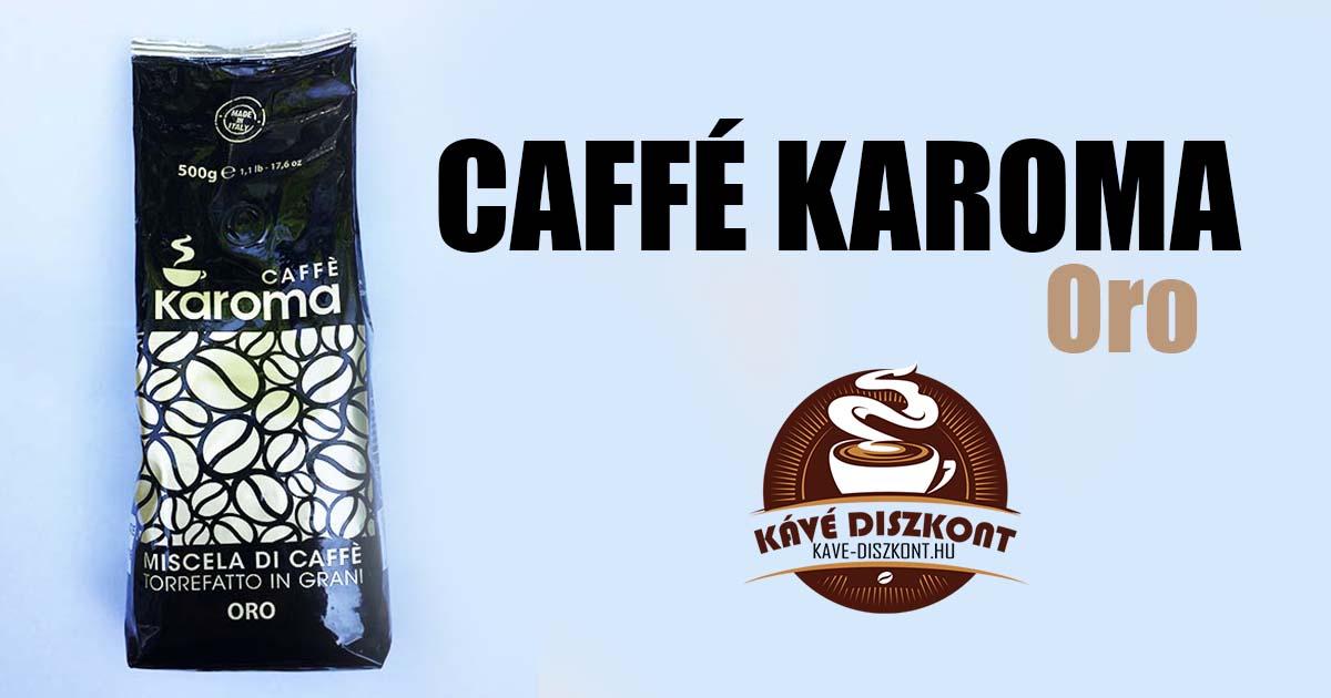 Caffé Karoma Oro kávé teszt