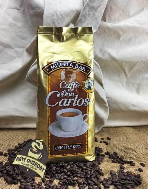 Caffé Carraro Don Carlos szemes kávé 1000 g