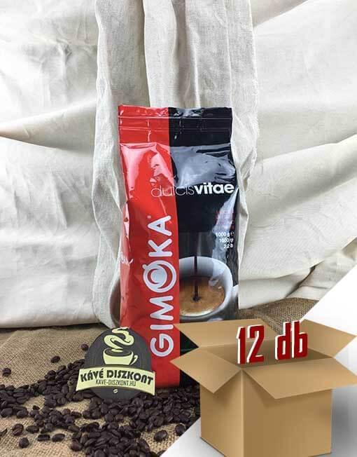 Gimoka Dulcius Vitae szemes kávé 12 x 1 kg ingyenes szállítással