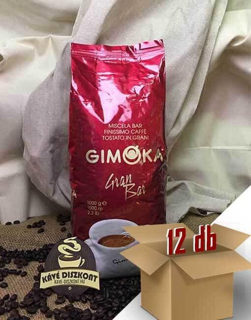 Gimoka Gran Bar 12 x 1 Kg szemes kávé ingyenes szállítással