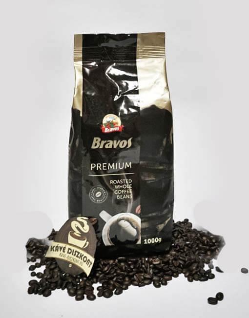 Bravos Prémium szemes kávé 1000 g
