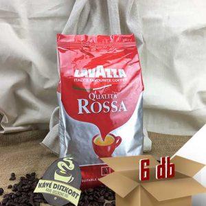 Lavazza Qualita Rossa Szemes kávé 6 x 1000 g ingyenes szállítással