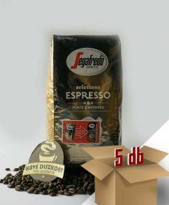 Segafredo Selezione Espresso szemes kávé 5 x 1 kg ingyenes szállítással