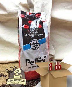 Pellini Break Rosso szemes kávé 8 x 1000 g Ingyenes szállítással