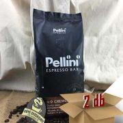 Pellini N.9 Espresso Bar Cremoso szemes kávé 2 x 1000 g ingyenes szállítással