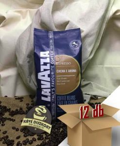 Lavazza Crema E Aroma Blue szemes kávé 12 x 1 kg ingyenes szállítással.