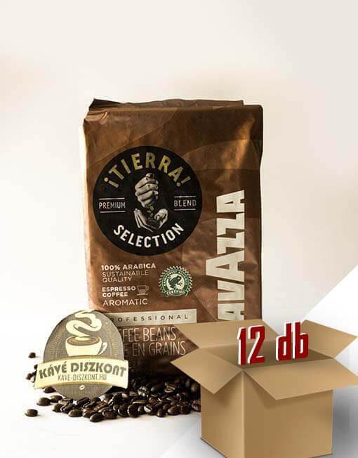 Lavazza Tierra szemes kávé 12 x 1 kg ingyenes szállítással