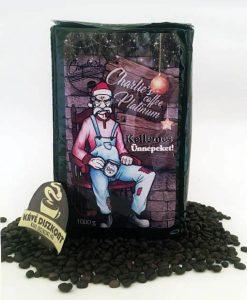 "Charlie's Coffee Platinum szemes kávé 1000 g ""Kellemes Ünnepeket!"""