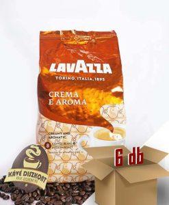 Lavazza Crema e Aroma szemes kávé 6 x 1000 g ingyenes szállítással