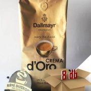 Dallmayr Crema d'Oro szemes kávé 8 x 1000 g ingyenes szállítással