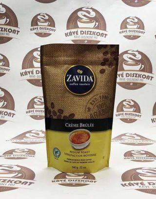 Zavida Créme Brúlée - créme brulée ízesítésű szemes kávé 340 g
