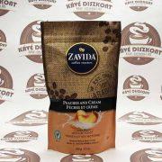 Zavida Peaches & Cream - őszibarack ízesítésű szemes kávé 340 g