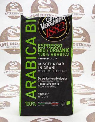 Vergnano Bio/Organic 100 % arabica szemes kávé 1000 g