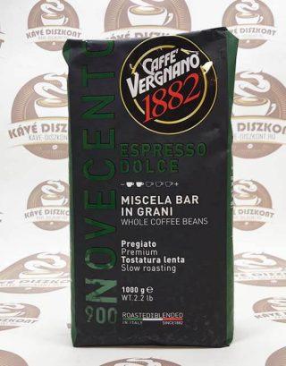 Vergnano Espresso Dolce 900 szemes kávé 1000 g