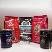 Lucaffé 2. válogatás ajándék Cappuccino üvegpohárral 2 x 250 g, 3 x 700 g szemes kávé