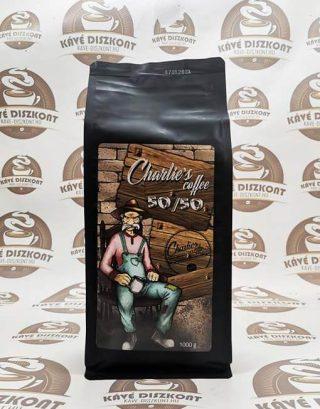 Charlie's coffee 50/50 szemes kávé 1000g